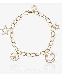 Rosa De La Cruz - Yellow Charm Gold Bracelet - Lyst