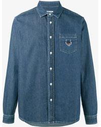KENZO - Denim Cotton Shirt - Lyst