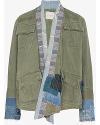 Greg Lauren - Jungle Denim Kimono Jacket - Lyst
