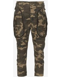 Faith Connexion - Low Rise Camo Print Trousers - Lyst