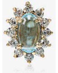 Rosa De La Cruz - 18k Yellow Gold Diamond Topaz Stud Earring - Lyst