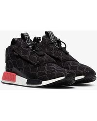 d26105112aba6d adidas Black And Red Nmd R1 Sneakers in Black for Men - Lyst