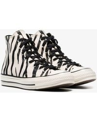 12444b88cfd7 Converse - Black And White Chuck Taylor All Stars 70s Zebra Print High-top  Sneakers