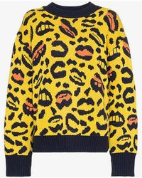 Charm's - Leopard And Lips Pattern Knit Sweater - Lyst