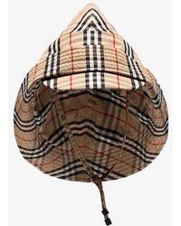 Burberry - Beige Vintage Check Rain Hat - Lyst