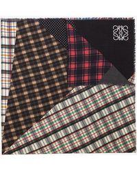 Loewe - Multicolour Patchwork Wool Scarf - Lyst