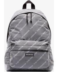 Balenciaga - Grey Explorer Power Of Dreams Print Backpack - Lyst
