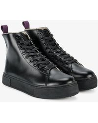 Eytys - Kibo Flat Leather Boots - Lyst
