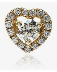 Rosa De La Cruz - Diamond Heart Single Stud Earring - Lyst