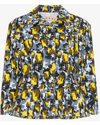 Marni - Floral Fitted Jacket - Lyst