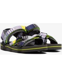 Suicoke - Grey Kisee Velcro Sandals - Lyst
