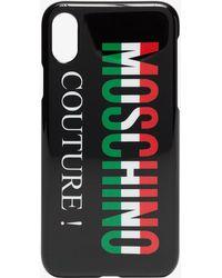 Moschino - Black Multicolour Logo Iphone Case - Lyst