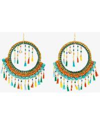 Rosantica - Merida Tassel And Bead Embellished Earrings - Lyst