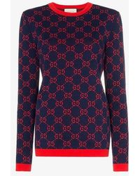 Gucci - GG Motif Cotton Sweater - Lyst