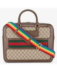 d465212748d Gucci Leather Snake Briefcase for Men - Lyst