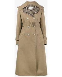 Gucci - Butterfly Appliqué Gabardine Trench Coat - Lyst
