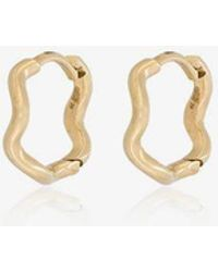 Sabine G - 18k Yellow Gold Wave Huggie Hoops - Lyst