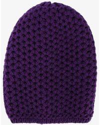 Inverni - Chunky Wool Knitted Beanie - Lyst