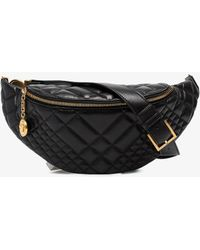 Versace black quilted leather bumbag Cheap Order hjM8l2OS2N