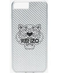 KENZO - Silver And Black Tiger Print Iphone 8 Plus Case - Lyst