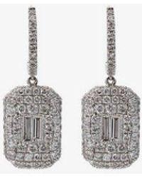 SHAY - Pave Baguette Drop Earrings - Lyst