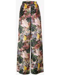 Erdem - Bertie Floral Velvet Wide Leg Trousers - Lyst
