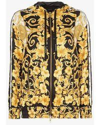 Versace - Zip Front Baroque Print Hooded Jacket - Lyst