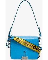 Off-White c/o Virgil Abloh - Blue Leather Bulldog Clip Shoulder Bag - Lyst
