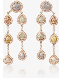 Saqqara - Brown Diamond Chandelier Earrings - Lyst