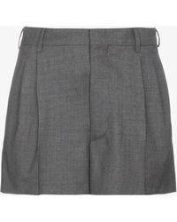 Miu Miu - Tailored Mohair Shorts - Lyst