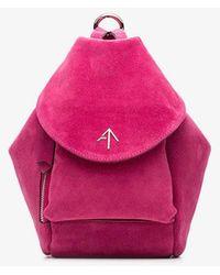 MANU Atelier - Fuchsia Fernweh Mini Suede Backpack - Lyst