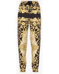 Versace - Baroque Silk Track Pants - Lyst