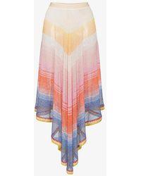 Missoni - Midi Skirt With Asymmetric Hem - Lyst