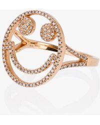 Rosa De La Cruz - Rose Gold And Diamond Smile Ring - Lyst