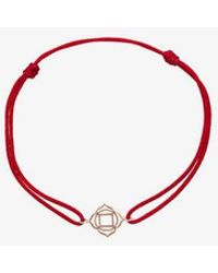 TinyOm - Red Chakra 18k Yellow Gold Bracelet - Lyst