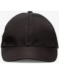 Prada - Logo Plaque Baseball Cap - Lyst
