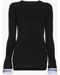 Juun.J - Quote Cuff Rib Knit Top - Lyst
