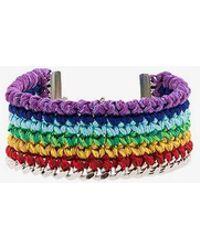 Venessa Arizaga - Silver-plated Rainbow Thread Bracelet - Lyst