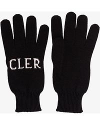 Moncler - Black Intarsia Logo Gloves - Lyst