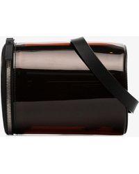 Building Block - Orange Transparent Pvc Leather Cylinder Belt Bag - Lyst