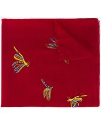 Janavi - Beaded Butterfly Scarf - Lyst