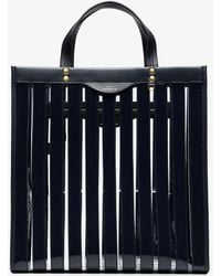 Anya Hindmarch - Marine Blue Striped Vinyl Tote - Lyst