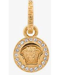 Versace - Medusa And Pearl Drop Single Earring - Lyst
