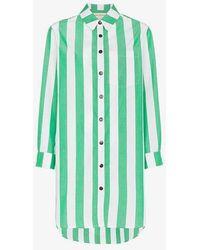 Mara Hoffman - Bennet Stripe Print Cotton Shirt - Lyst