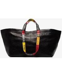 Balenciaga - Black Carry Large Leather Tote Bag - Lyst