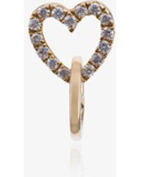 Loquet London - Diamond Linked Hearts - Lyst