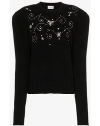 Magda Butrym - Murray Embellished Wool Jumper - Lyst
