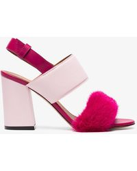 Givenchy - Paris 90 Mink Block Heel Sandals - Lyst