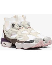 Reebok - White, Nude And Brown Instapump Fury Ultraknit Dp Trainers - Lyst