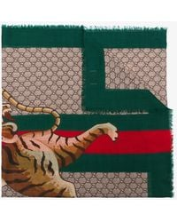Gucci - Bengal Print Scarf - Lyst